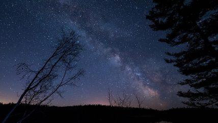 Notte a cavallo sotto un cielo stellato