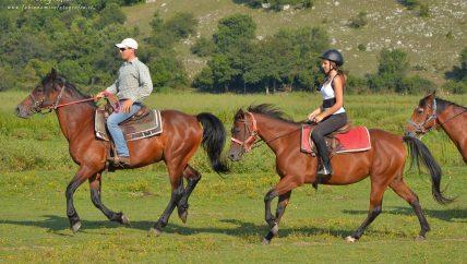 Denis Buongiorno e ragazza a cavallo