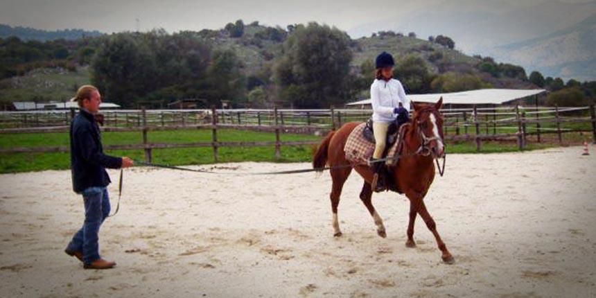 Lezione di equitazione a Roccaraso